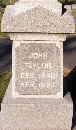 TAYLOR, JOHN - Dubuque County, Iowa | JOHN TAYLOR