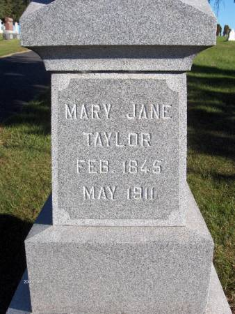 TAYLOR, MARY JANE - Dubuque County, Iowa   MARY JANE TAYLOR