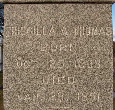 THOMAS, PRISCILLA A. - Dubuque County, Iowa   PRISCILLA A. THOMAS