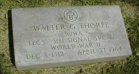 THORPE, WALTER G. - Dubuque County, Iowa | WALTER G. THORPE