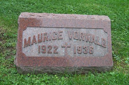 VORWALD, MAURICE - Dubuque County, Iowa | MAURICE VORWALD