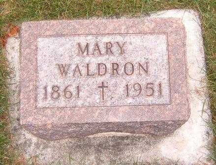 WALDRON, MARY - Dubuque County, Iowa | MARY WALDRON