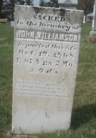WILLIAMSON, JOHN - Dubuque County, Iowa | JOHN WILLIAMSON