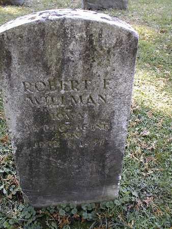 WILLMAN, ROBERT F. - Dubuque County, Iowa   ROBERT F. WILLMAN