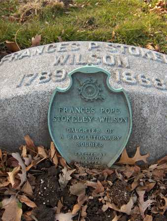 WILSON, FRANCES POPE - Dubuque County, Iowa | FRANCES POPE WILSON