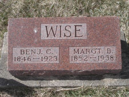 WISE, MARG'T. B. - Dubuque County, Iowa | MARG'T. B. WISE