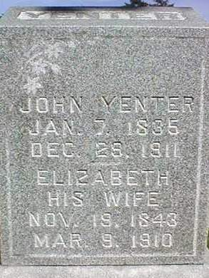 YENTER, JOHN - Dubuque County, Iowa | JOHN YENTER