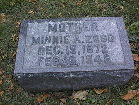 ZOGG, MINNIE A. - Dubuque County, Iowa | MINNIE A. ZOGG