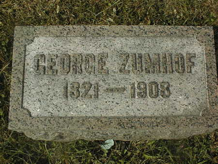 ZUMHOF, GEORGE - Dubuque County, Iowa | GEORGE ZUMHOF
