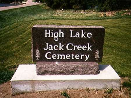 HIGH LAKE/JACK CREEK, CEMETERY - Emmet County, Iowa | CEMETERY HIGH LAKE/JACK CREEK