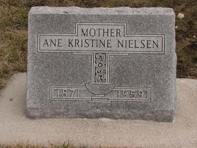 NIELSEN, ANNA KIRSTINE - Emmet County, Iowa | ANNA KIRSTINE NIELSEN