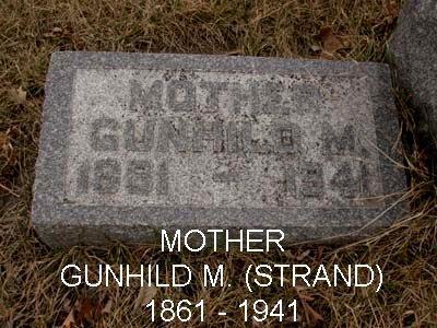 STRAND, GUNHILD M. - Emmet County, Iowa | GUNHILD M. STRAND