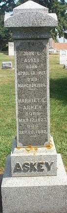 ASKEY, HARRIETT ESSINGTON - Fayette County, Iowa | HARRIETT ESSINGTON ASKEY