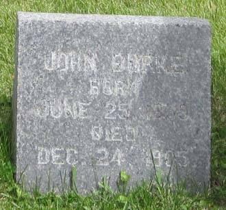 BURKE, JOHN - Fayette County, Iowa | JOHN BURKE