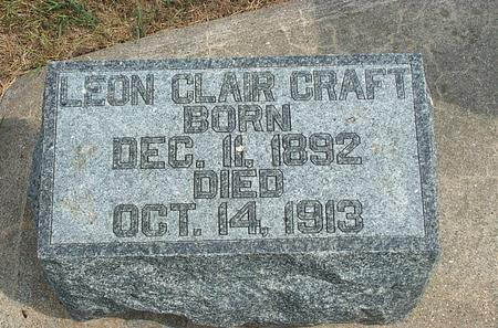 CRAFT, LEON CLAIR - Fayette County, Iowa | LEON CLAIR CRAFT