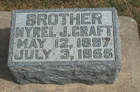CRAFT, MYRLE JOSHUA - Fayette County, Iowa | MYRLE JOSHUA CRAFT