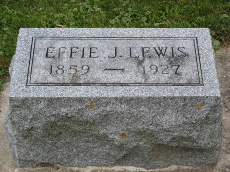 LEWIS, EFFIE J. - Fayette County, Iowa   EFFIE J. LEWIS