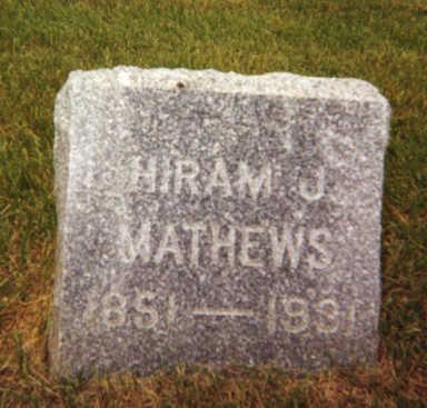 MATHEWS, HIRAM - Fayette County, Iowa | HIRAM MATHEWS