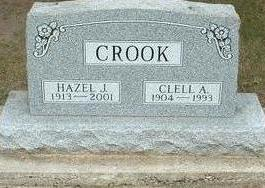 CROOK, HAZEL J. - Floyd County, Iowa | HAZEL J. CROOK