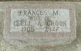 CROOK, FRANCES M. - Floyd County, Iowa | FRANCES M. CROOK
