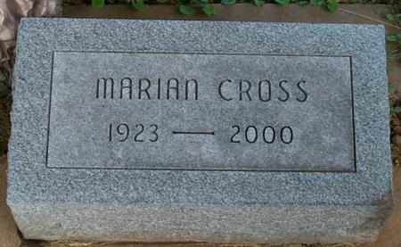 CROSS, MARIAN - Floyd County, Iowa | MARIAN CROSS