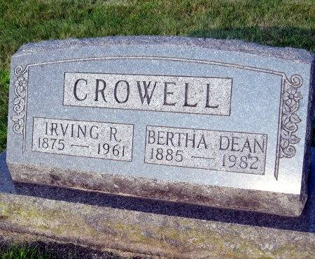 DEAN CROWELL, BERTHA ELVIRA - Floyd County, Iowa | BERTHA ELVIRA DEAN CROWELL