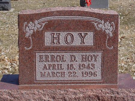 HOY, ERROL DENIS - Floyd County, Iowa   ERROL DENIS HOY