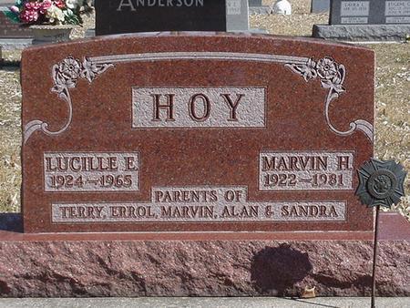 HOY, MARVIN HAROLD & LUCILLE EMMA - Floyd County, Iowa | MARVIN HAROLD & LUCILLE EMMA HOY