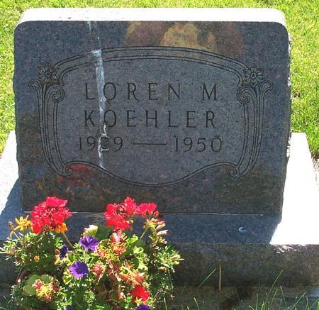 KOEHLER, LOREN M. - Floyd County, Iowa | LOREN M. KOEHLER