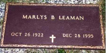 LEAMAN, MARLYS BELLE - Floyd County, Iowa | MARLYS BELLE LEAMAN