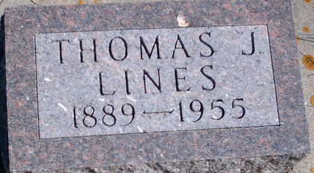 LINES, THOMAS JOHN - Floyd County, Iowa | THOMAS JOHN LINES