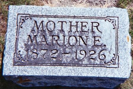 MARKER, MARION E. - Floyd County, Iowa | MARION E. MARKER