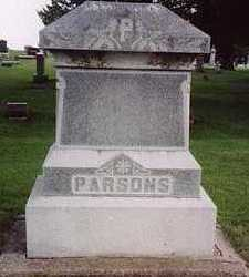PARSONS, FAMILY HEADSTONE - Floyd County, Iowa | FAMILY HEADSTONE PARSONS