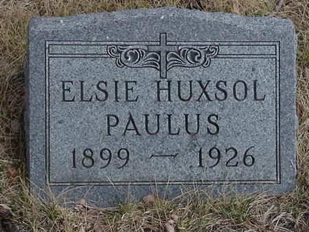 HUXSOL PAULUS, ELSIE - Floyd County, Iowa | ELSIE HUXSOL PAULUS