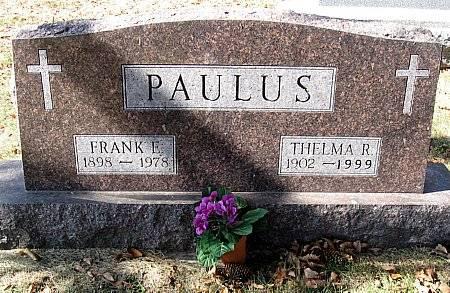 PAULUS, FRANK EDWARD & THELMA RUTH - Floyd County, Iowa | FRANK EDWARD & THELMA RUTH PAULUS