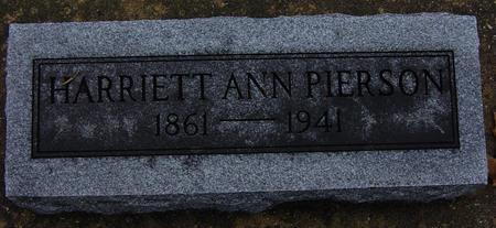 PIERSON, HARRIETT ANN - Floyd County, Iowa | HARRIETT ANN PIERSON