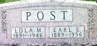 POST, EARL E. - Floyd County, Iowa | EARL E. POST