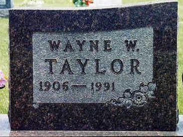 TAYLOR, WAYNE W. - Floyd County, Iowa | WAYNE W. TAYLOR