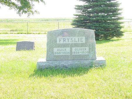 FRYSLIE, ALICE - Franklin County, Iowa | ALICE FRYSLIE