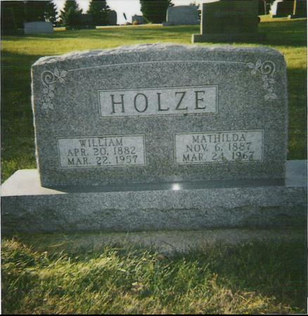 HOLZE, WILLIAM - Franklin County, Iowa | WILLIAM HOLZE