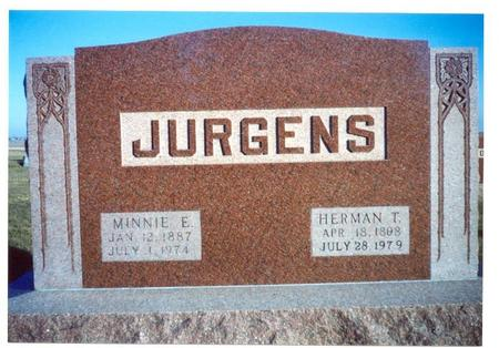 JURGENS, MINNIE E. - Franklin County, Iowa | MINNIE E. JURGENS