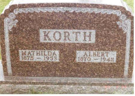 KORTH, ALBERT - Franklin County, Iowa | ALBERT KORTH