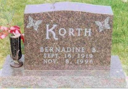 KORTH, BERNADINE - Franklin County, Iowa | BERNADINE KORTH