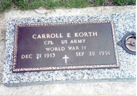 KORTH, CARROLL - Franklin County, Iowa | CARROLL KORTH