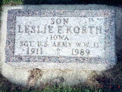 KORTH, LESLIE - Franklin County, Iowa | LESLIE KORTH