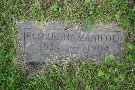 MANIFOLD, ELIZABETH - Franklin County, Iowa | ELIZABETH MANIFOLD
