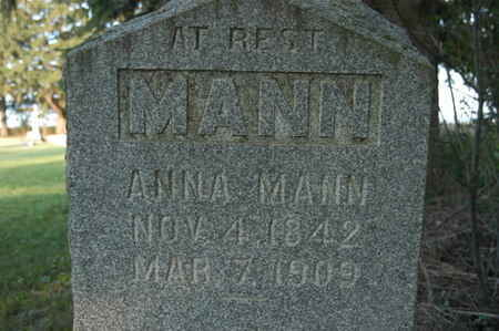 MANN, ANNA - Franklin County, Iowa | ANNA MANN