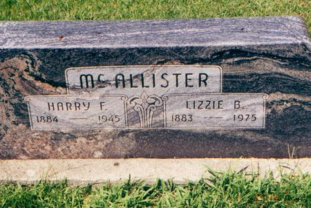MCALLISTER, HARRY F. - Franklin County, Iowa | HARRY F. MCALLISTER