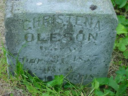 OLESON, CHRISTENA - Franklin County, Iowa | CHRISTENA OLESON