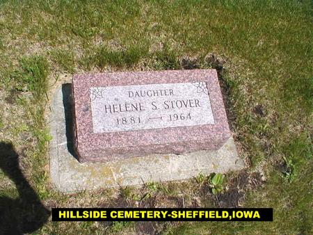 STOVER, HELENE - Franklin County, Iowa | HELENE STOVER